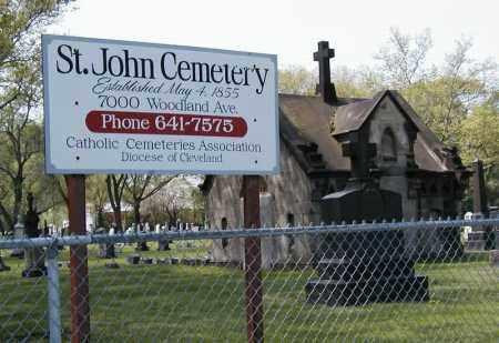 ST. JOHN, CEMETERY SIGN - Cuyahoga County, Ohio | CEMETERY SIGN ST. JOHN - Ohio Gravestone Photos