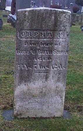 SNOW, ORPHA - Cuyahoga County, Ohio   ORPHA SNOW - Ohio Gravestone Photos