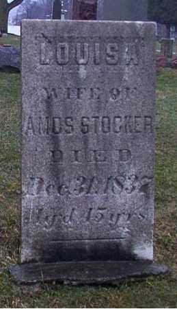 STOCKER, LOUISA - Cuyahoga County, Ohio | LOUISA STOCKER - Ohio Gravestone Photos
