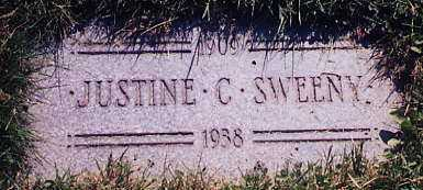 CROSSER SWEENY, JUSTINE, C. - Cuyahoga County, Ohio | JUSTINE, C. CROSSER SWEENY - Ohio Gravestone Photos