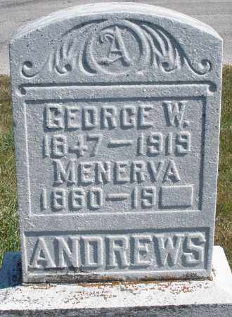 ANDREWS, MENERVA - Darke County, Ohio   MENERVA ANDREWS - Ohio Gravestone Photos