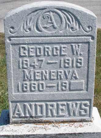 ANDREWS, GEORGE W. - Darke County, Ohio   GEORGE W. ANDREWS - Ohio Gravestone Photos