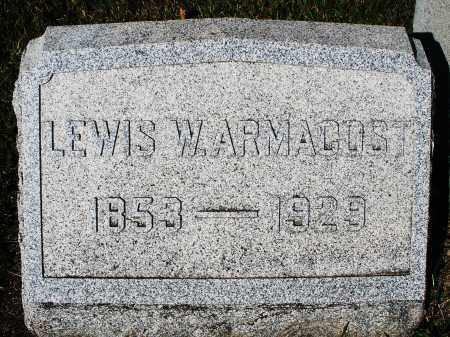 ARMACOST, LEWIS W. - Darke County, Ohio | LEWIS W. ARMACOST - Ohio Gravestone Photos