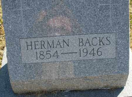 BACKS, HERMAN - Darke County, Ohio | HERMAN BACKS - Ohio Gravestone Photos
