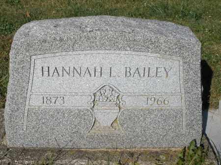 BAILEY, HANNAH L. - Darke County, Ohio | HANNAH L. BAILEY - Ohio Gravestone Photos