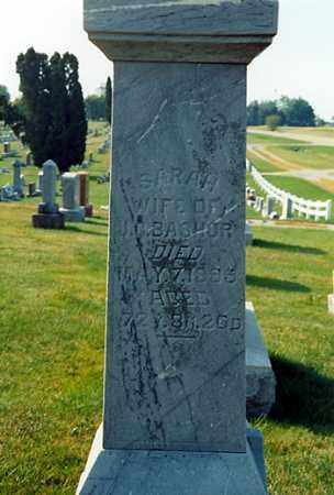 MILLER BASHORE, SARAH - Darke County, Ohio   SARAH MILLER BASHORE - Ohio Gravestone Photos