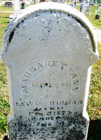 BIRMAN, MARGARET ANN - Darke County, Ohio | MARGARET ANN BIRMAN - Ohio Gravestone Photos