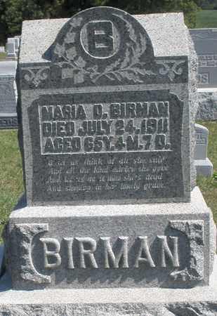 BIRMAN, MARIA D. - Darke County, Ohio | MARIA D. BIRMAN - Ohio Gravestone Photos