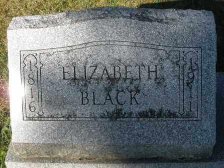BLACK, ELIZABETH - Darke County, Ohio | ELIZABETH BLACK - Ohio Gravestone Photos