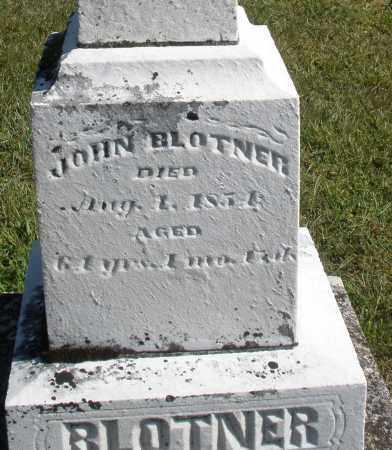 BLOTNER, JOHN - Darke County, Ohio | JOHN BLOTNER - Ohio Gravestone Photos