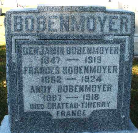 BOBENMOYER, BENJAMIN - Darke County, Ohio | BENJAMIN BOBENMOYER - Ohio Gravestone Photos
