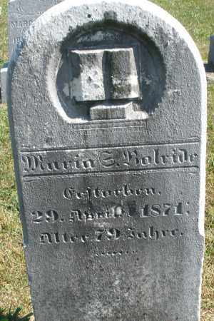BOLRIDE, MARIA - Darke County, Ohio | MARIA BOLRIDE - Ohio Gravestone Photos