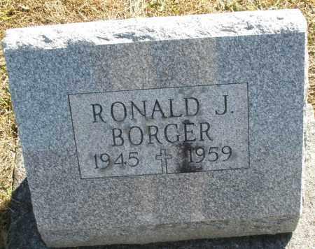 BORGER, RONALD J. - Darke County, Ohio | RONALD J. BORGER - Ohio Gravestone Photos