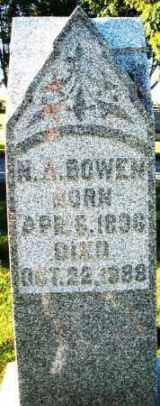 BOWEN, H.A. - Darke County, Ohio | H.A. BOWEN - Ohio Gravestone Photos