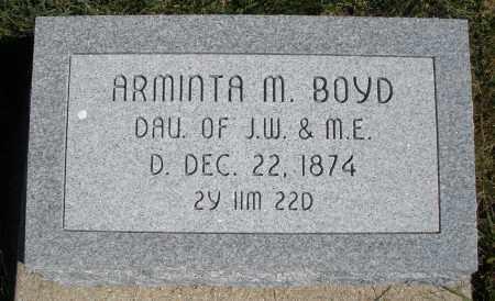 BOYD, ARMINTA M. - Darke County, Ohio   ARMINTA M. BOYD - Ohio Gravestone Photos