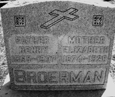 BROERMAN, ELIZABETH - Darke County, Ohio | ELIZABETH BROERMAN - Ohio Gravestone Photos