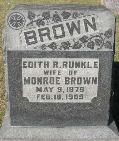 RUNKLE BROWN, EDITH R. - Darke County, Ohio | EDITH R. RUNKLE BROWN - Ohio Gravestone Photos