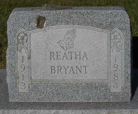 BRYANT, REATHA - Darke County, Ohio | REATHA BRYANT - Ohio Gravestone Photos