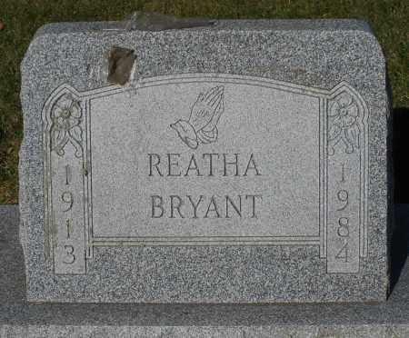 BRYANT, REATHA - Darke County, Ohio   REATHA BRYANT - Ohio Gravestone Photos