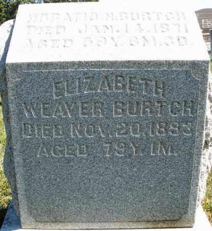 BURTCH, ELIZABETH - Darke County, Ohio | ELIZABETH BURTCH - Ohio Gravestone Photos