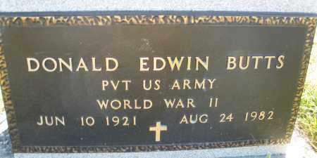 BUTTS, DONALD EDWIN - Darke County, Ohio | DONALD EDWIN BUTTS - Ohio Gravestone Photos