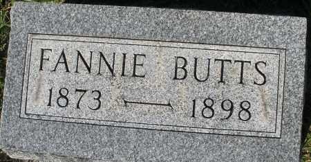 BUTTS, FANNIE - Darke County, Ohio   FANNIE BUTTS - Ohio Gravestone Photos