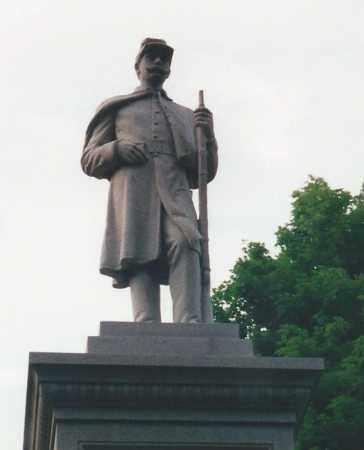 CIVIL WAR MEMORIAL, CLOSE-UP - Darke County, Ohio | CLOSE-UP CIVIL WAR MEMORIAL - Ohio Gravestone Photos