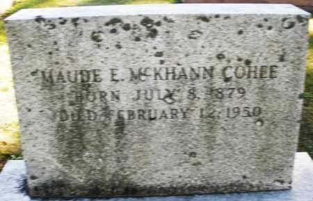 COHEE, MAUDE E. - Darke County, Ohio | MAUDE E. COHEE - Ohio Gravestone Photos