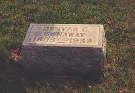 CONAWAY, DENVER CHALMER - Darke County, Ohio | DENVER CHALMER CONAWAY - Ohio Gravestone Photos