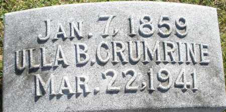 CRUMRINE, ULLA B. - Darke County, Ohio | ULLA B. CRUMRINE - Ohio Gravestone Photos