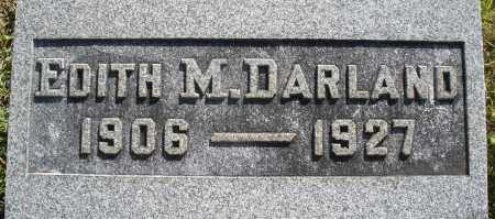 DARLAND, EDITH M. - Darke County, Ohio   EDITH M. DARLAND - Ohio Gravestone Photos