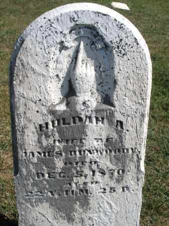 DUNWOODY, HULDAH A. - Darke County, Ohio | HULDAH A. DUNWOODY - Ohio Gravestone Photos