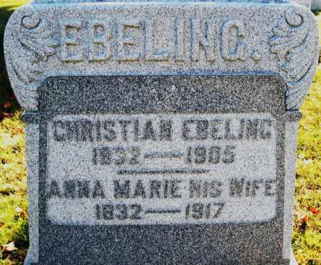 EBELING, CHRISTIAN - Darke County, Ohio | CHRISTIAN EBELING - Ohio Gravestone Photos