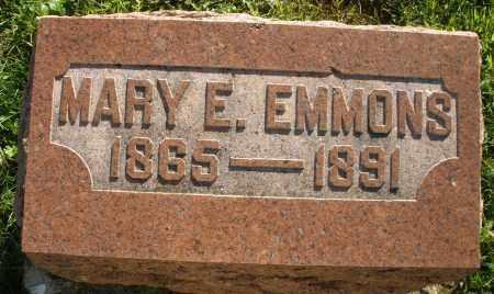 EMMONS, MARY E. - Darke County, Ohio | MARY E. EMMONS - Ohio Gravestone Photos