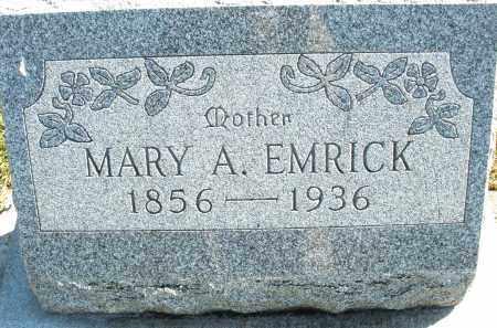 EMRICK, MARY A. - Darke County, Ohio | MARY A. EMRICK - Ohio Gravestone Photos