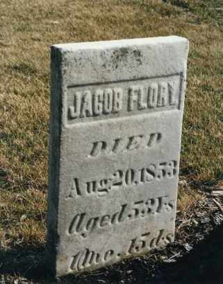 FLORY, JACOB - Darke County, Ohio | JACOB FLORY - Ohio Gravestone Photos