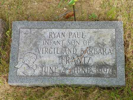 FRANTZ, RYAN PAUL - Darke County, Ohio   RYAN PAUL FRANTZ - Ohio Gravestone Photos