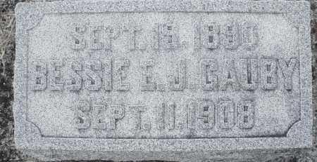 GAUBY, BESSIE E.J. - Darke County, Ohio | BESSIE E.J. GAUBY - Ohio Gravestone Photos