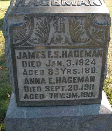 HAGEMAN, JAMES F.S. - Darke County, Ohio | JAMES F.S. HAGEMAN - Ohio Gravestone Photos