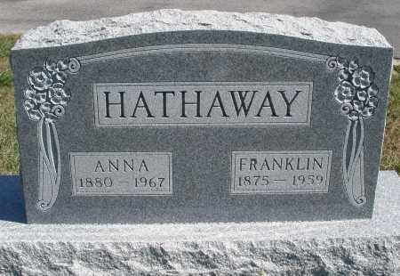 HATHAWAY, FRANKLIN - Darke County, Ohio | FRANKLIN HATHAWAY - Ohio Gravestone Photos