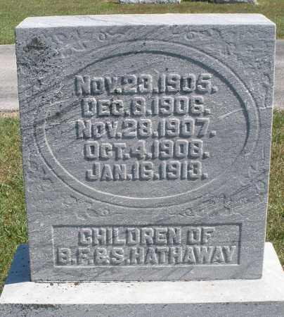 HATHAWAY, CHILDREN - Darke County, Ohio | CHILDREN HATHAWAY - Ohio Gravestone Photos