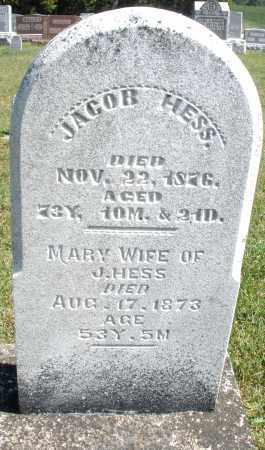 HESS, JACOB - Darke County, Ohio | JACOB HESS - Ohio Gravestone Photos