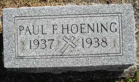HOENING, PAUL F. - Darke County, Ohio | PAUL F. HOENING - Ohio Gravestone Photos