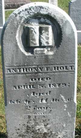 HOLT, ANTHONY F. - Darke County, Ohio | ANTHONY F. HOLT - Ohio Gravestone Photos