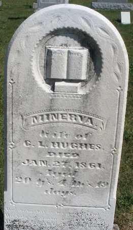 HUGHES, MINERVA - Darke County, Ohio   MINERVA HUGHES - Ohio Gravestone Photos
