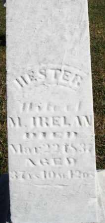 IRELAN, HESTER - Darke County, Ohio   HESTER IRELAN - Ohio Gravestone Photos