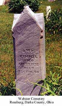 SAWVEL KIMMEL, AMY - Darke County, Ohio   AMY SAWVEL KIMMEL - Ohio Gravestone Photos