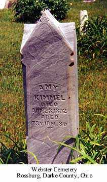 KIMMEL, AMY - Darke County, Ohio | AMY KIMMEL - Ohio Gravestone Photos