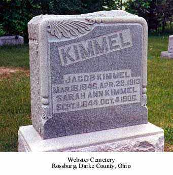WILLIAMSON KIMMEL, SARAH ANN - Darke County, Ohio | SARAH ANN WILLIAMSON KIMMEL - Ohio Gravestone Photos