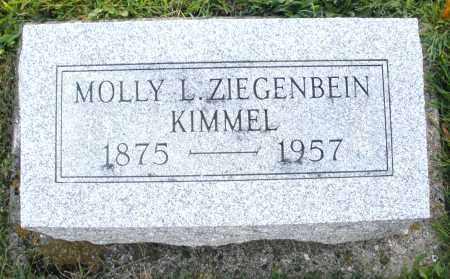 ZIEGENBEIN KIMMEL, MOLLY L. - Darke County, Ohio   MOLLY L. ZIEGENBEIN KIMMEL - Ohio Gravestone Photos